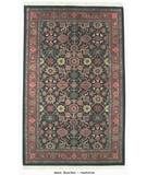 RugStudio presents ORG Handtufted Mahal Black/Red Hand-Tufted, Better Quality Area Rug